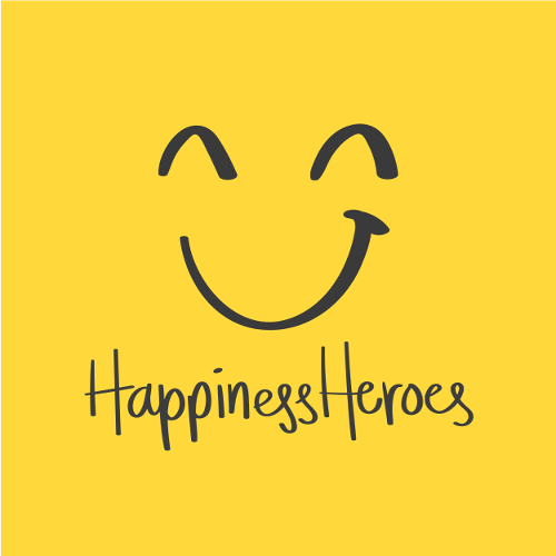 The logo of HappinessHeroes
